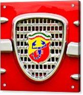 Fiat Emblem Acrylic Print by Jill Reger
