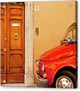 Fiat Parking Acrylic Print