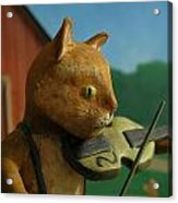 Fiddle Cat 2 Acrylic Print