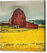 Field And Barn Acrylic Print