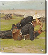 Field Drill For The Prussian Infantry  Acrylic Print