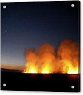 Field Fire. Nchalo, Shire Walley Acrylic Print