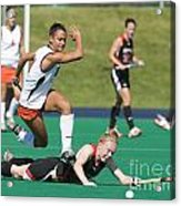 Field Hockey Hurdle Acrylic Print
