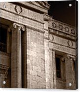 Field Museum Of Chicago Bw Number 2 Acrylic Print