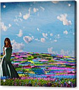 Field Of Flowers... Acrylic Print