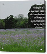 Field Of Treasure Acrylic Print
