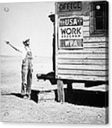 Field Office Of The Wpa Government Agency Acrylic Print by American Photographer