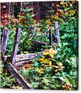 Fields And Fences Of Wawona In Yosemite National Park Acrylic Print