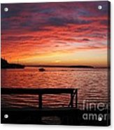 Fiery Afterglow Acrylic Print