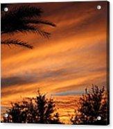 Fiery Arizona Sunset Acrylic Print