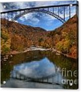 Fiery Colors At New River Gorge Bridge Acrylic Print