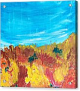 Fiery Fall In The Hills Acrylic Print