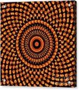 Fiery Floral Pattern Acrylic Print