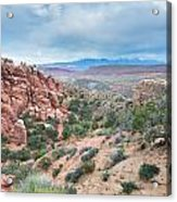 Fiery Furnace Viewpoint - La Sal Mountains - Arches National Park - Ut Acrylic Print