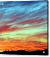 Fiery July Sunset Acrylic Print