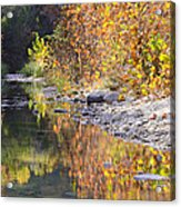 Fiery Reflection At Lost Maples Acrylic Print