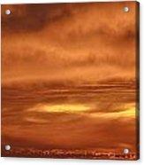Fiery Sky Burning Bright Above The Farallon Islands Acrylic Print