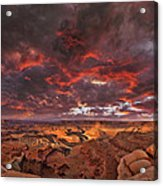 Fiery Sunrise Over Dead Horse Point State Park Acrylic Print