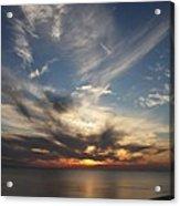 Fiery Sunset Skys Acrylic Print