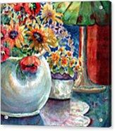Fiesta Blooms Acrylic Print by Ann  Nicholson