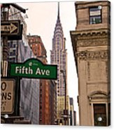 Fifth Ave. Acrylic Print