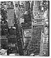 Fifth Avenue In New York City. Acrylic Print