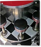 Fifties Diner Detail Acrylic Print