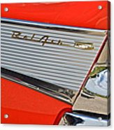 Fifty Seven Chevy Bel Air Acrylic Print