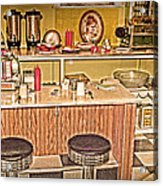 Fifty's Lunch Counter  Nostalgic Acrylic Print