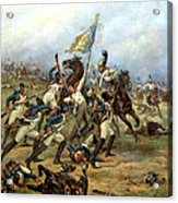 Fight For The Banner Acrylic Print by Victor Mazurovsky