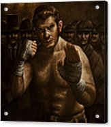 Fight Acrylic Print by Mark Zelmer