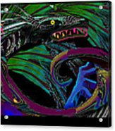 Fight The Dragon Acrylic Print