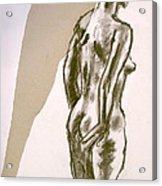 Figure Collage Acrylic Print