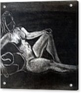 Figure Drawing Acrylic Print by Corina Bishop