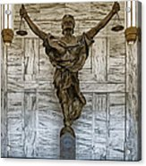 Figure Of Justice Acrylic Print