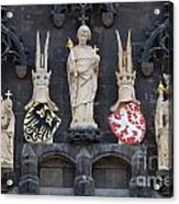 Figures On Staromestska Vez In Prague Acrylic Print