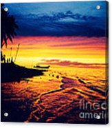 Fiji Paradise Sunset Acrylic Print