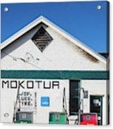 Filling Station, Mokotua, The Catlins Acrylic Print
