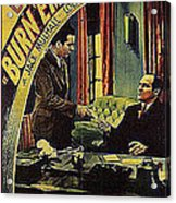 Film Homage Burn 'em Up Barns Mascot Serial 1934 Chapter 5 Lobby Card Color Added 2008 Acrylic Print