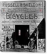 Film Homage Butch Cassidy 1969 Russell And Sheldon Bicycles C.1895 Tucson Arizona 2008 Acrylic Print