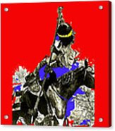 Film Homage Cameron Mitchell The High Chaparral Fighting Apache Publicity Photo Collage Acrylic Print