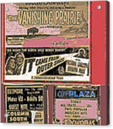 Film Homage Collage Drive-in Ads 1953 Tucson Arizona 2008 Acrylic Print