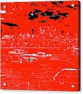 Film Homage Damnation Alley 1 1977 Demolition Derby Tucspn Arizona 1968-2008 Acrylic Print by David Lee Guss