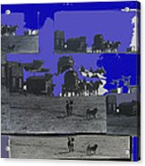 Film Homage Dirty Dingus Magee Collage Number 1 1970-2012 Mescal Arizona Acrylic Print