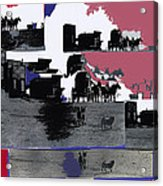 Film Homage Dirty Dingus Magee Collage Number 2 1970-2012 Mescal Arizona Acrylic Print