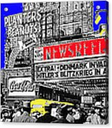 Film Homage Embassy Newsreel Theater 1940 Times Square New York City 2008 Acrylic Print