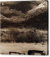 Film Homage End Of The Road 1970 Bisected Car Ghost Town Dos Cabezos Arizona 1967-2008 Acrylic Print