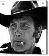 Film Homage Jack Palance Monte Walsh Set Old Tucson Arizona 1969 Acrylic Print