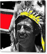 Film Homage Jean-paul Belmondo  Fake Indian Bonnet Love Is A Funny Thing  Old Tucson Az 1969-2008 Acrylic Print