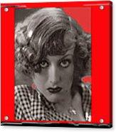 Film Homage Joan Crawford Louis Milestone Rain 1932 Collage Color Added 2010 Acrylic Print